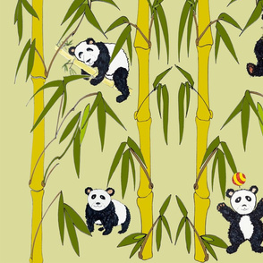 large-scale-bamboo-panda-wallpaper