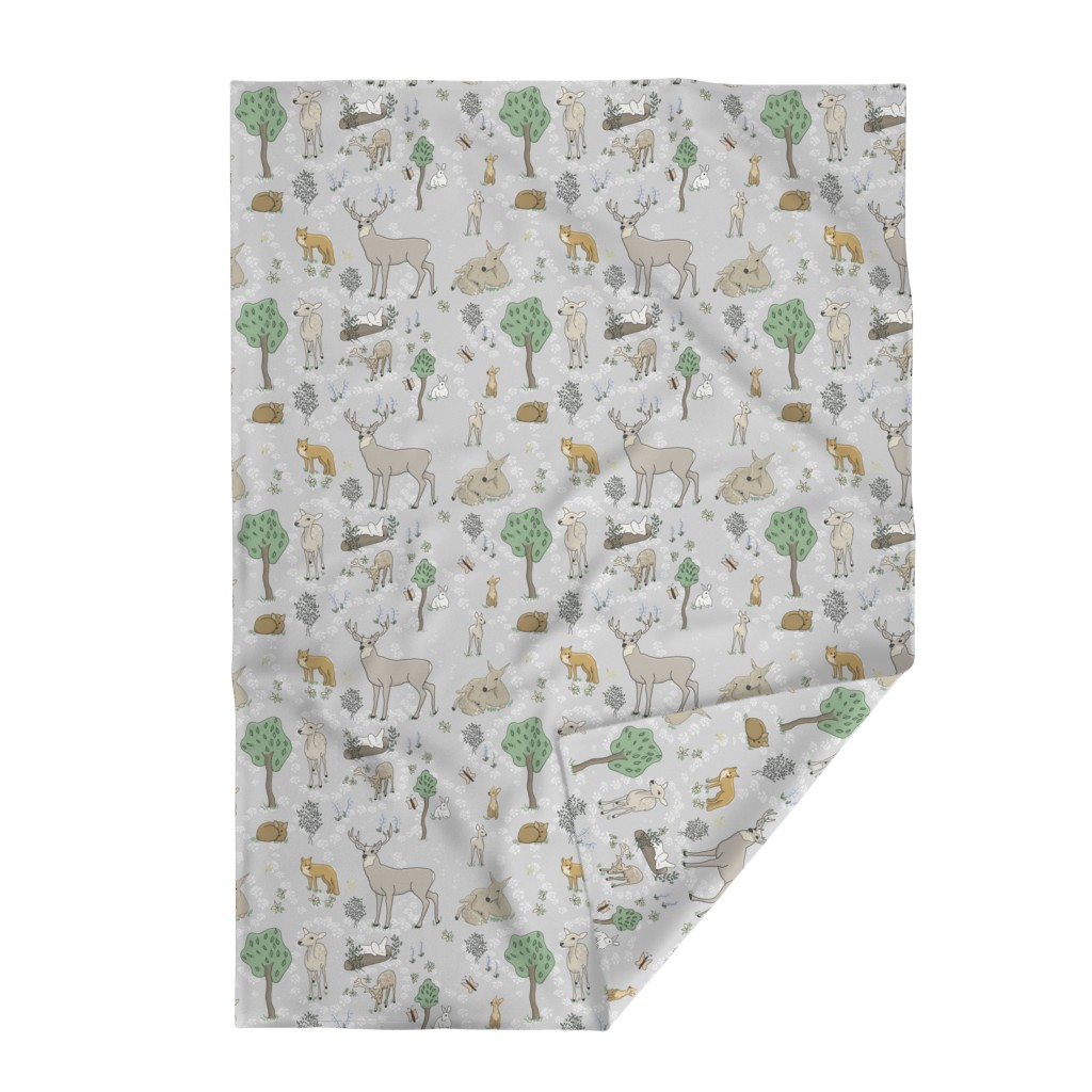 Lakenvelder Throw Blanket featuring Animals in the forest Large Print by stasiajahadi