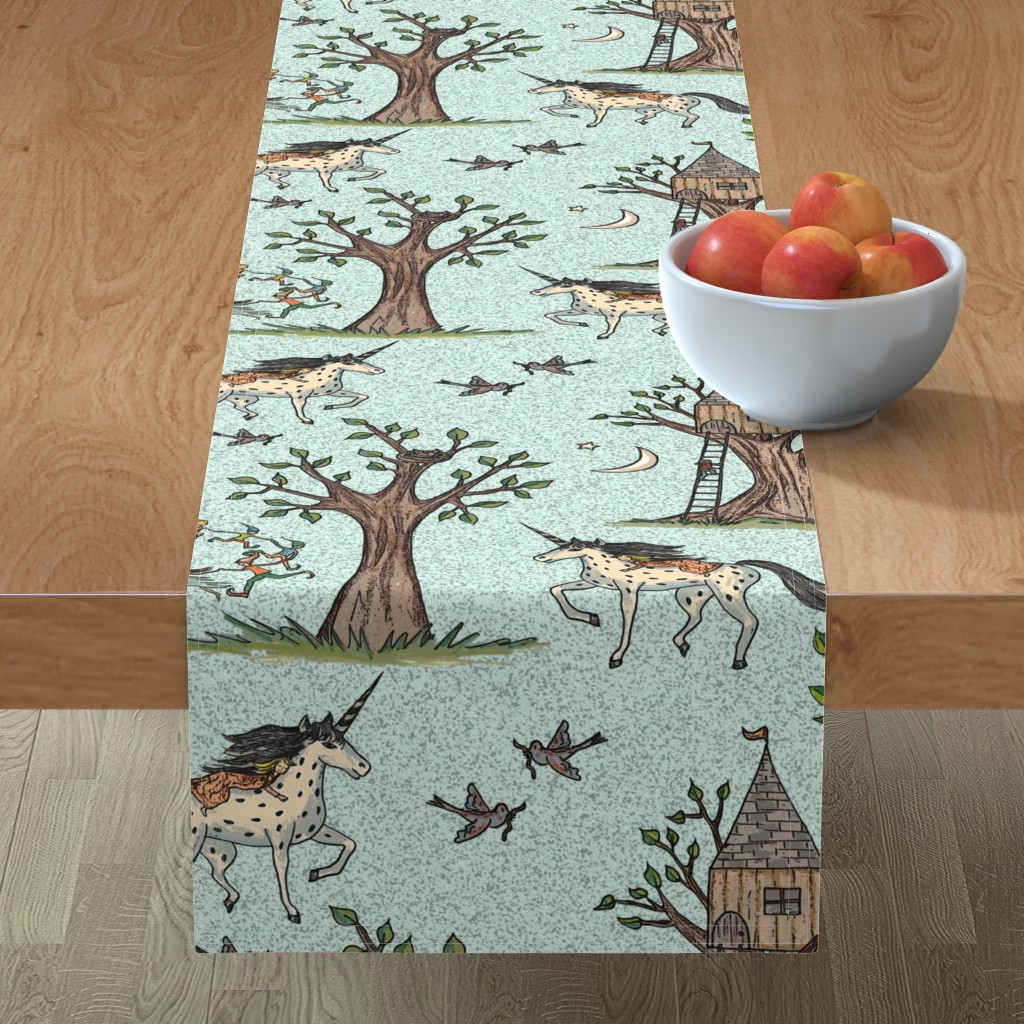 Minorca Table Runner featuring Good dreams by lucybaribeau