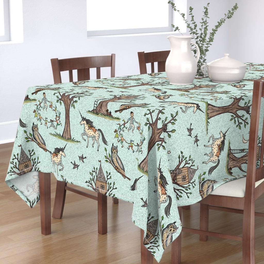 Bantam Rectangular Tablecloth featuring Good dreams by lucybaribeau
