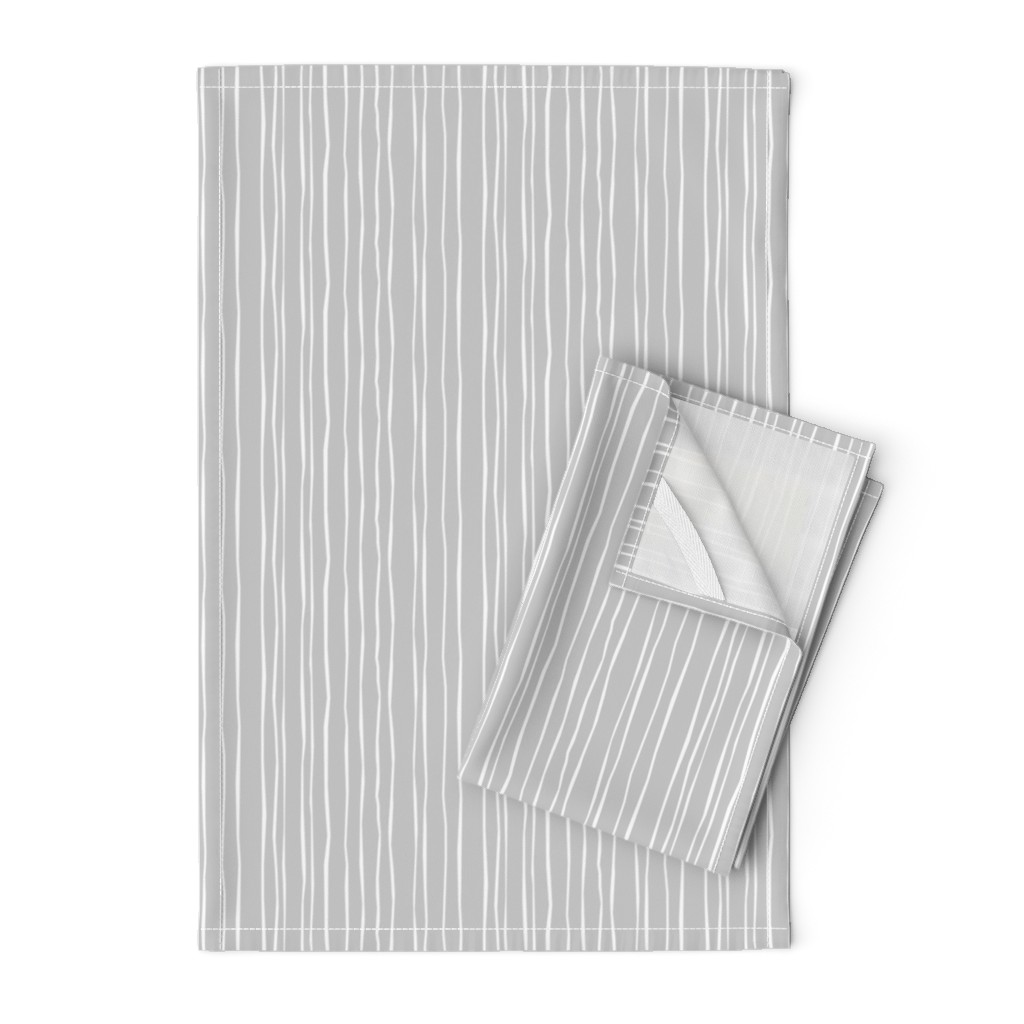 Orpington Tea Towels featuring  Silver Stripe by autumn_musick