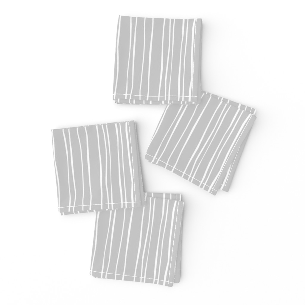 Frizzle Cocktail Napkins featuring  Silver Stripe by autumn_musick
