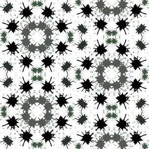 Green grey splatter tile