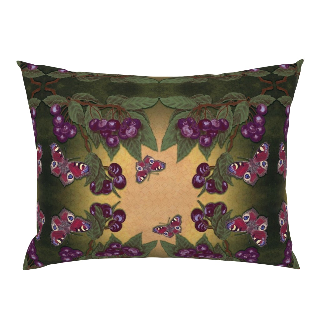 Campine Pillow Sham featuring Cherry Dreams by snarets