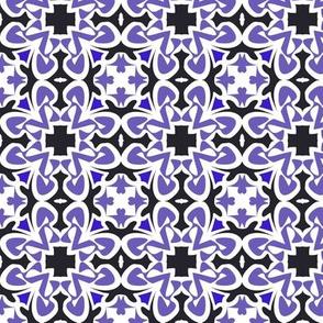 Purple cross tile