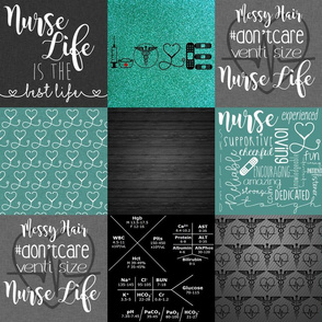 #NurseLife with Teal Glitter