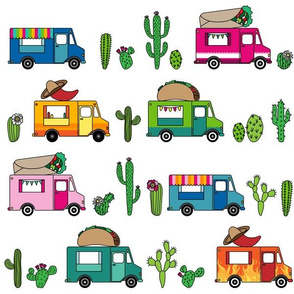 Mexican Food Trucks // On White