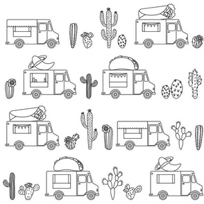 Mexican Food Trucks // Black and White