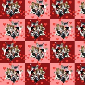 beagle quilt squares