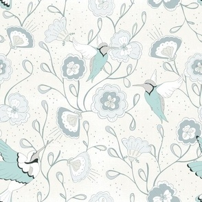 Chinoiserie Honey Bird China White