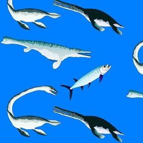 Four extinct sea monsters battle it out sea blue