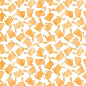 Yellow orange watercolor cats