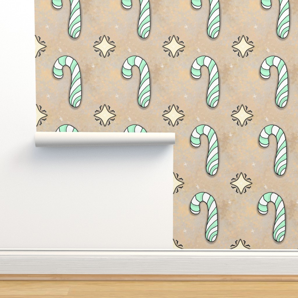 Isobar Durable Wallpaper featuring Christmas Candy Cane | Spearmint | Project 835.2  by bohobear