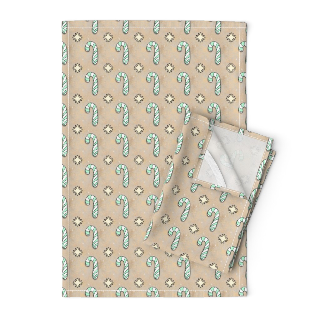 Orpington Tea Towels featuring Christmas Candy Cane   Spearmint   Project 835.2  by bohobear