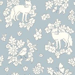 Foxes pale blue