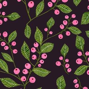 Berries on Dark Background