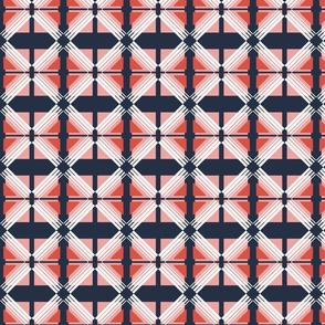 plaid fabric // geometric red white blue navy
