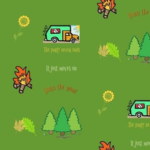 Camping Trip Green