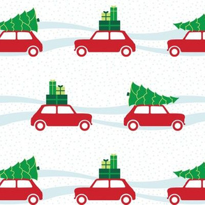 Mini Cooper Christmas Traffic - Traditional