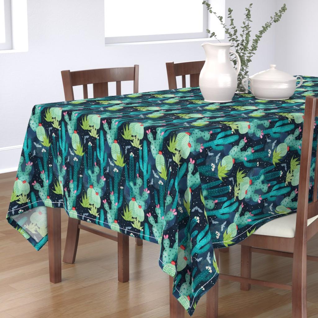 Bantam Rectangular Tablecloth featuring Desert at night by adenaj
