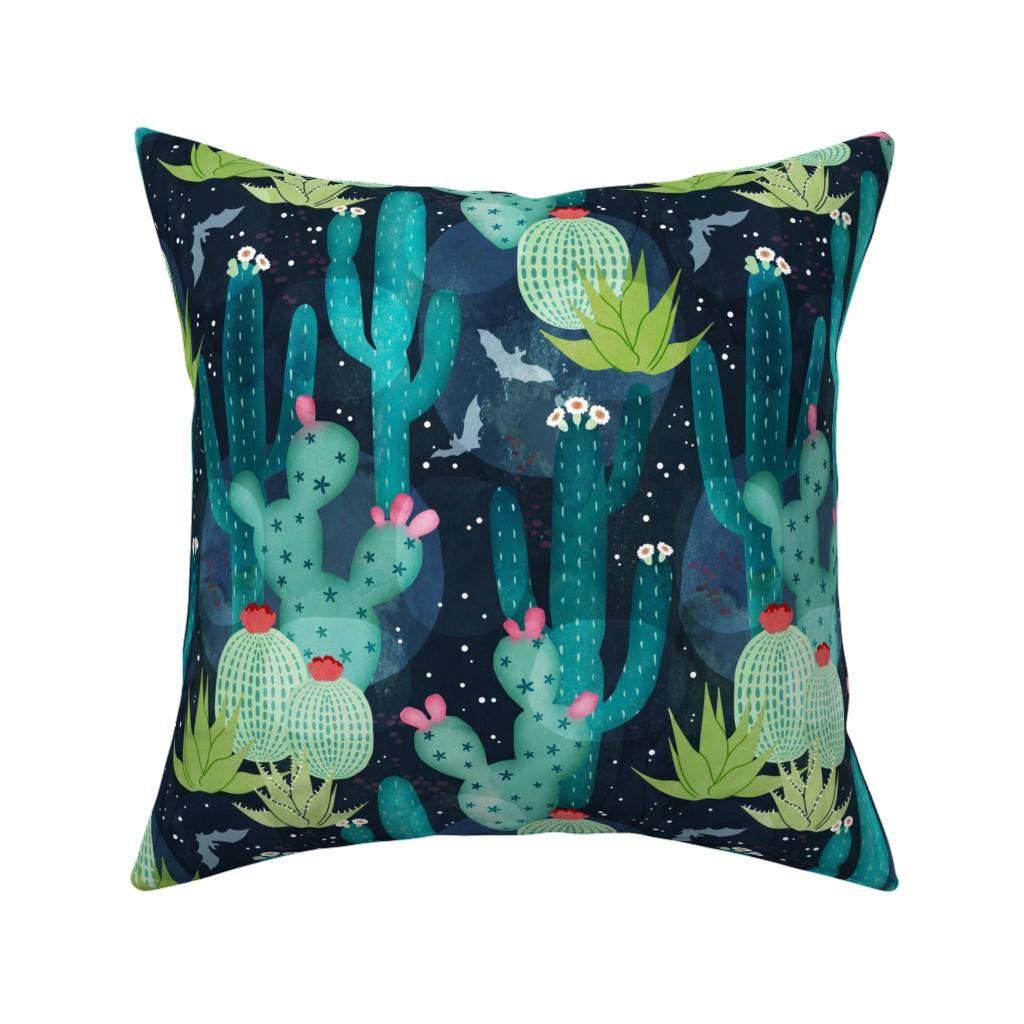 Catalan Throw Pillow featuring Desert at night by adenaj