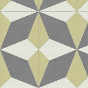 Yellow + Gray Diamond 2