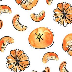 Mandarins - sweet watercolor fruit