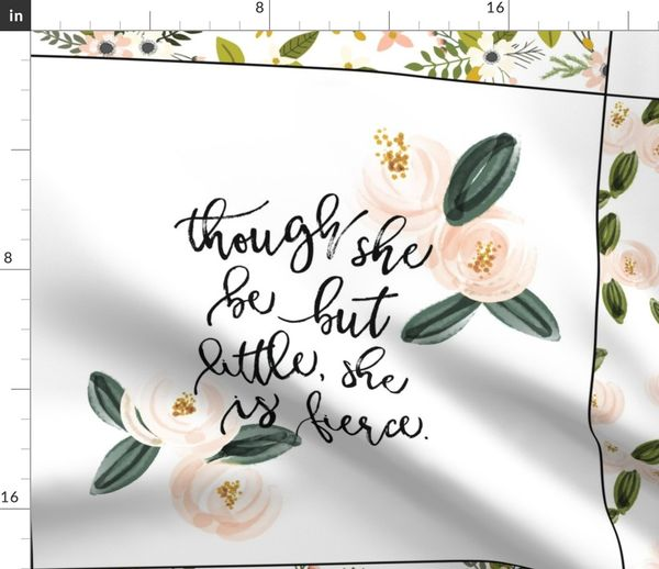 loveys mix of girly quotes spoonflower