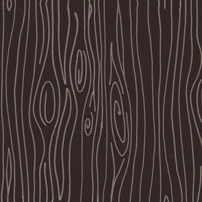 Wonky Wood - Dark Brown