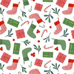 christmas socks and gifts