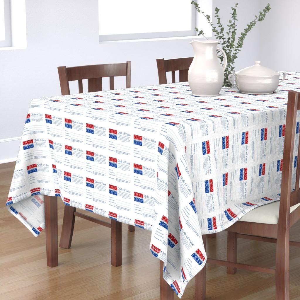 Bantam Rectangular Tablecloth featuring QOV Label for Team  by qovf