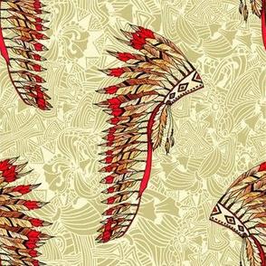 Indian Tribal Warbonnet Pattern