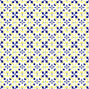 Azulejo Blue and Yellow