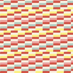 retro gelato stripes // calming, colorful, cute, baby bedroom