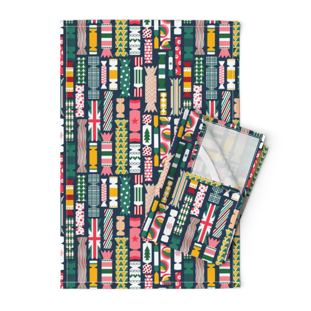 Orpington Tea Towels featuring The Great British Christmas Cracker by sarahparr