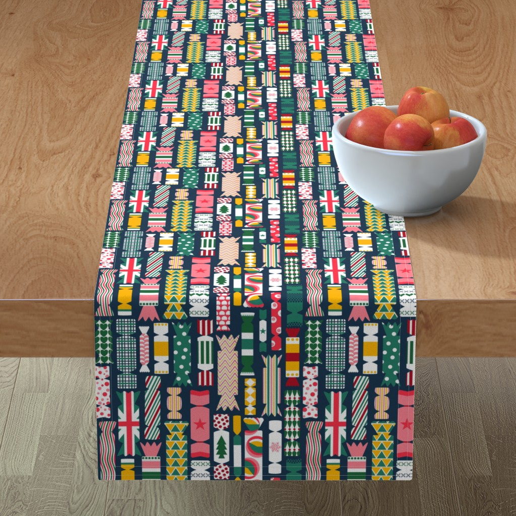 Minorca Table Runner featuring The Great British Christmas Cracker by sarahparr
