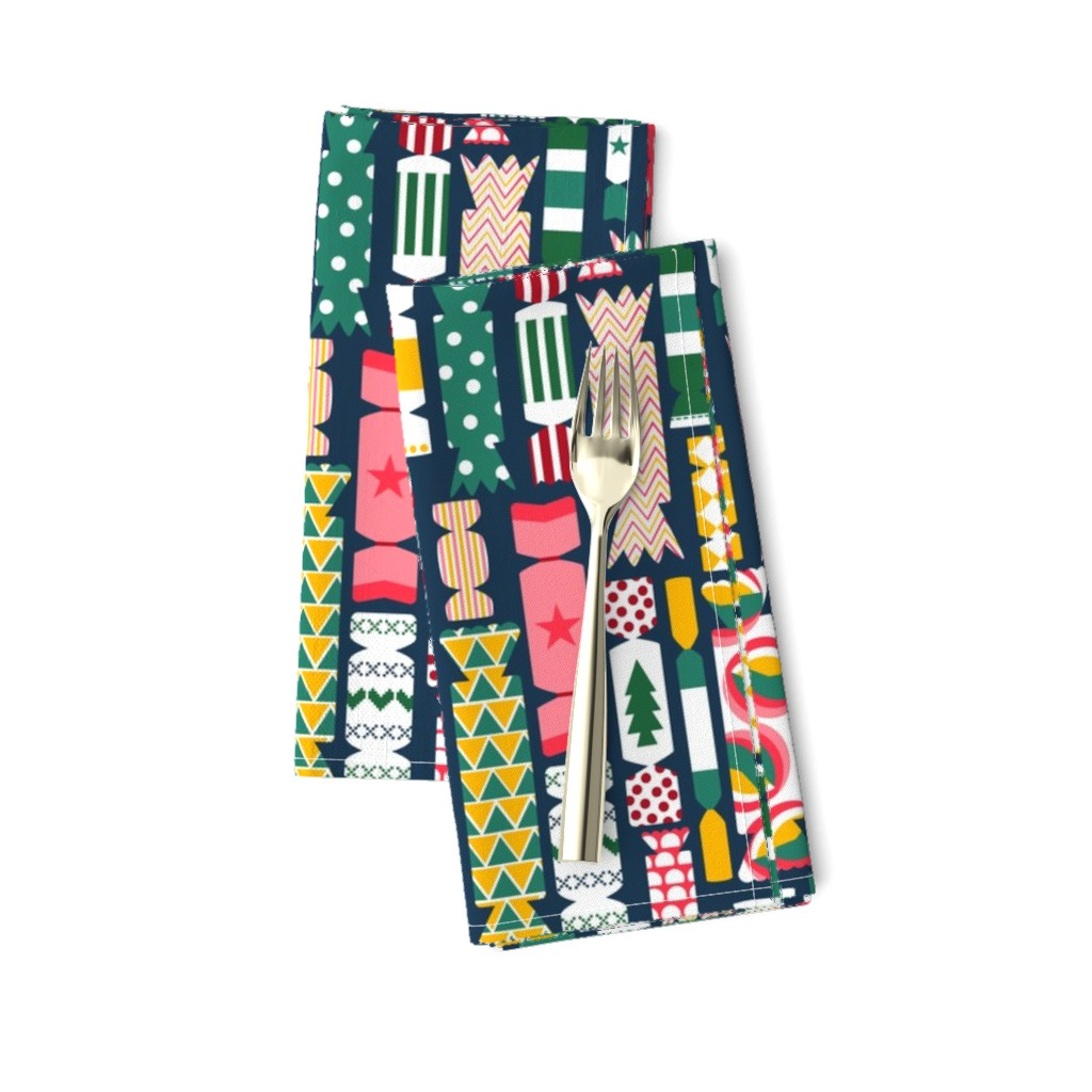 Amarela Dinner Napkins featuring The Great British Christmas Cracker by sarahparr