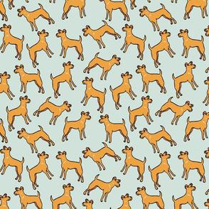dogs // mint cute pets dog hand drawn illustration dog pattern