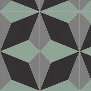 Green + Black + Gray Diamond 2