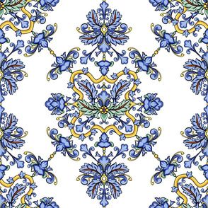 Traditional Portugal. Blue floral tiles