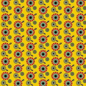bauhaus floral mustard
