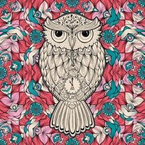 Owl Birds Pink kaleidoscope