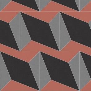 Red + Black + Gray Diamond 4