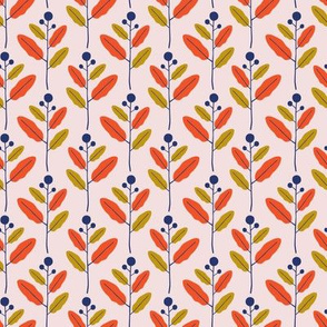 Berry Leaf pink small