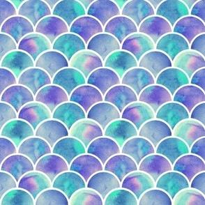 mint and purple mermaid scales