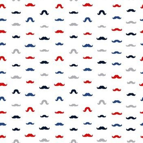Moustaches Seamless Patterns for November Holiday