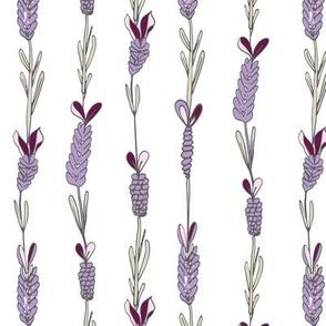 Lavender field white neutral