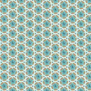 Holiday Dot - Ochre-Lt Blue