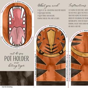 Biting Tiger / Cut-and-Sew Pot Holder