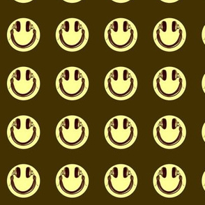 Retro Headphone Happy Face